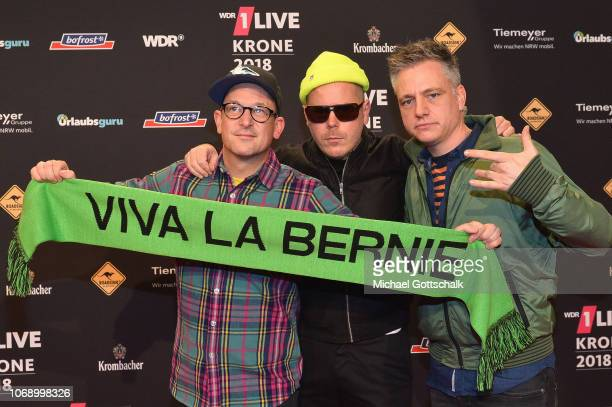 Fettes Brot attend the 1Live Krone radio award at Jahrhunderthalle on December 6 2018 in Bochum Germany