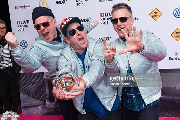 'Fettes Brot' attends the 1Live Krone 2015 at Jahrhunderthalle on December 3 2015 in Bochum Germany