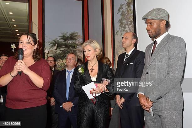 Fettouma ZIouani Patricia Chapelotte Jean Charles Viti and Didier Didier Drogba attend the 'Prix De La Femme D'Influence 'Prix De La Femme...