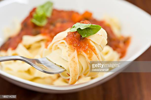 Fettuccine On A Fork