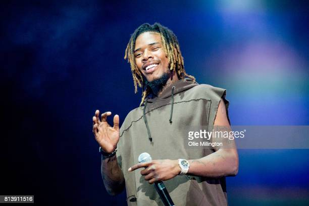 Fetty Wap perform onstage during Day 7 of the 50th Festival D'ete De Quebec on the Main stage stage on July 12 2017 in Quebec City Canada