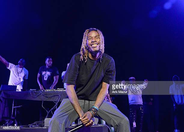 Fetty Wap performs at Nikon at Jones Beach Theater on August 30 2015 in Wantagh New York