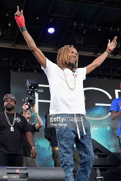 Fetty Wap performs during Billboard Hot 100 Festival Day 2 at Nikon at Jones Beach Theater on August 23 2015 in Wantagh New York