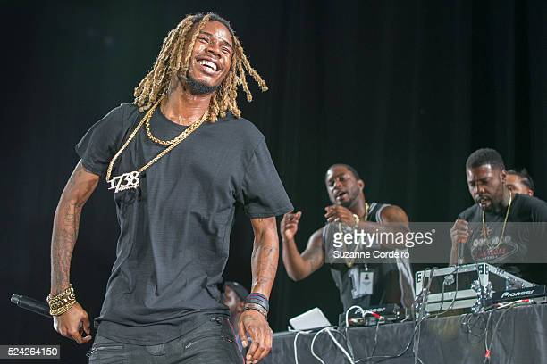 Fetty Wap performs during the Chris Brown 'One Hell of a Night Tour' at the Austin360 Amphitheater on September 9 2015 in Austin Texas