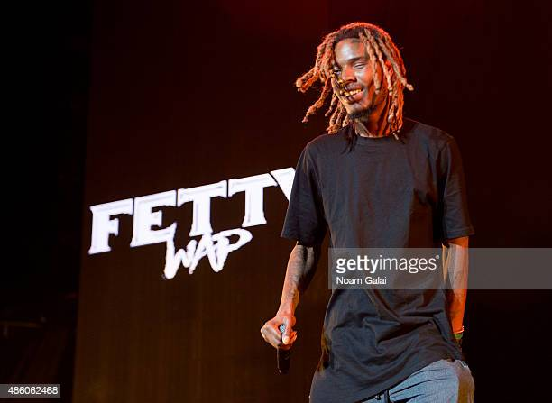 Fetty Wap performs in concert at Nikon at Jones Beach Theater on August 30 2015 in Wantagh New York