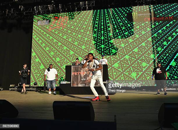Fetty Wap performs onstage during the 2016 Billboard Hot 100 Festival Day 1 at Nikon at Jones Beach Theater on August 20 2016 in Wantagh New York