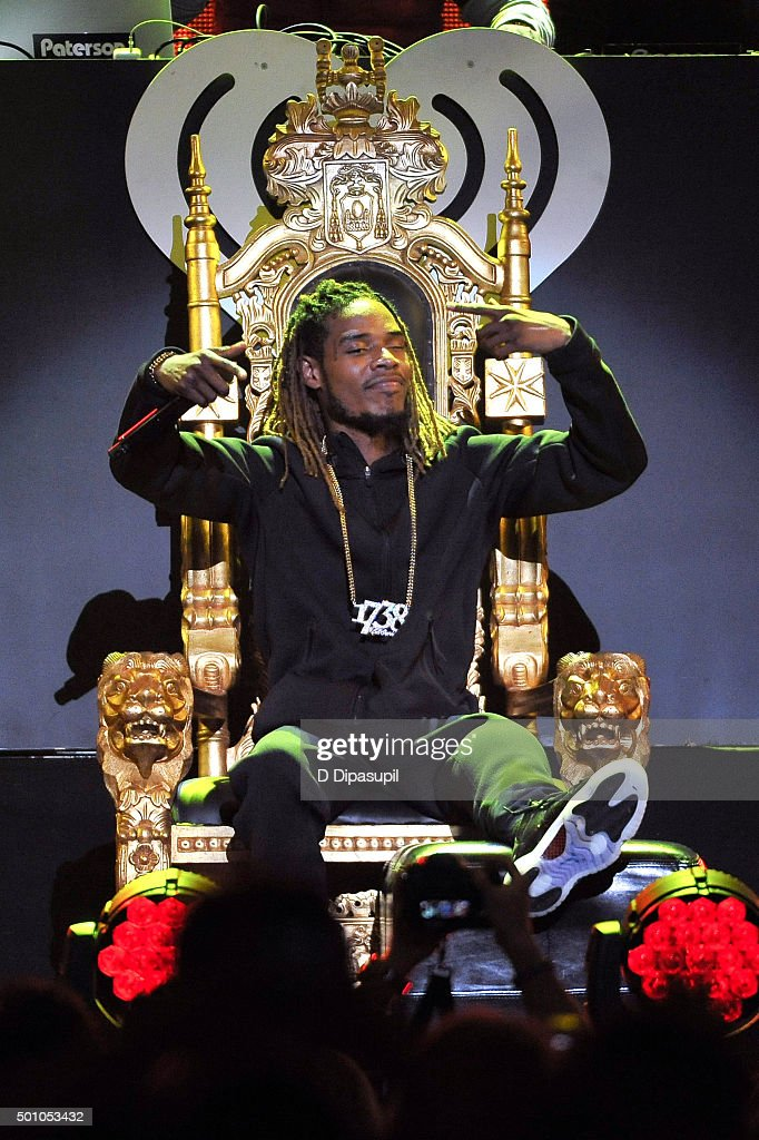 Fetty Wap performs onstage during Z100's iHeartRadio Jingle Ball 2015 at Madison Square Garden on December 11, 2015 in New York City.