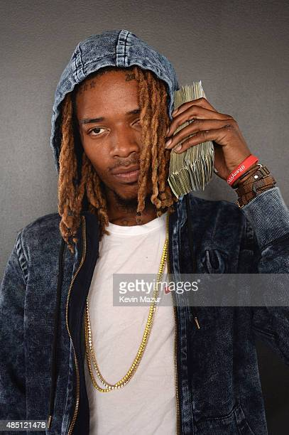 Fetty Wap poses backstage during Billboard Hot 100 Festival Day 2 at Nikon at Jones Beach Theater on August 23 2015 in Wantagh New York