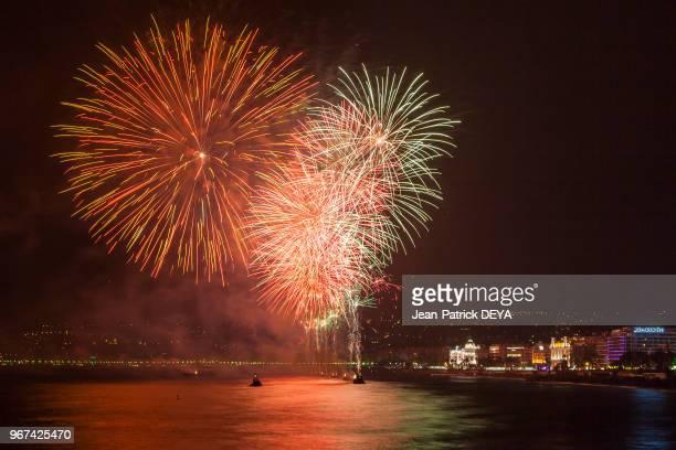 Feu d'artifice Promenade des Anglais 13 juillet 2016 Nice France