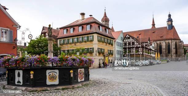 Feuchtwangen, Marktplatz & Röhrenbrunnen (Bavaria, Germany)