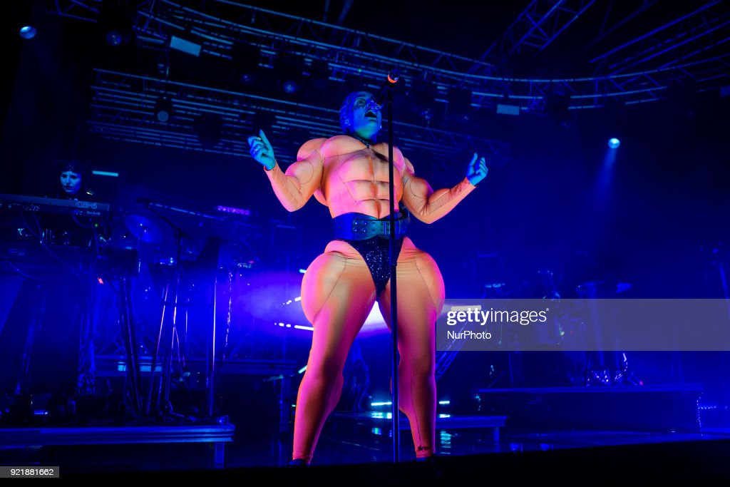 Fever Ray - real name Karin Elisabeth Dreijer Andersson - performs live at Fabrique in Milano, Italy, on February 20, 2018. She was one half of the electronic music duo The Knife, formed with her brother Olof Dreijer.