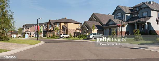 Few brand new suburban houses.