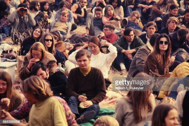 A few dozen of the thousands in the audience at the Altamont Speedway prior to the free concert headlined by the Rolling Stones