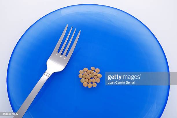 Few lentils on a plate