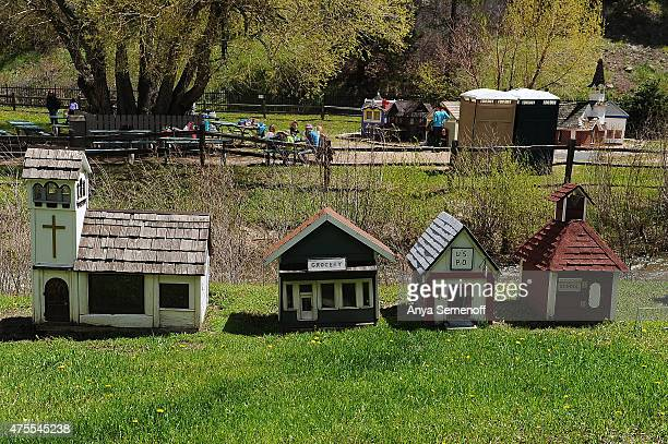 Few of the original tiny house, built by George Turner in 1915, sit along the Tiny Town railroad route on May 26 in Jefferson County, Colorado. Tiny...