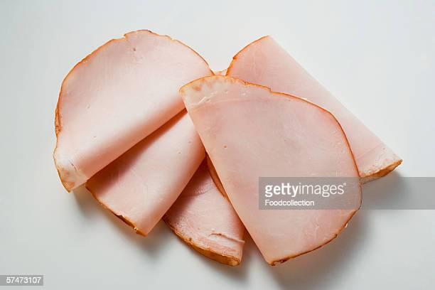 A few slices of turkey ham
