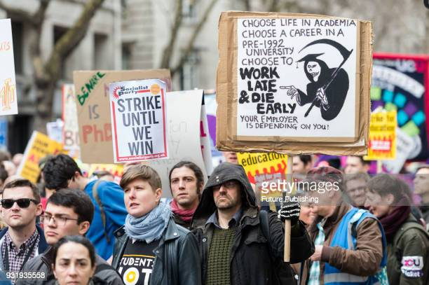 A few thousand of people including higher and further education staff and students took part in a protest march across central London to Westminster...