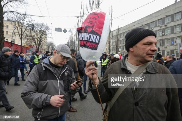 Few thousands of protesters and supporters of the former Georgian president and exOdessa Governor Mikheil Saakashvili march downtown Kyiv demanding...