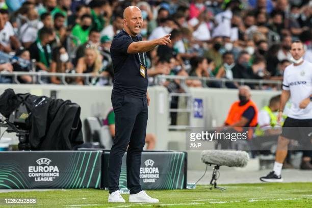Feyenoord coach Arne Slot during the UEFA Conference League match between Maccabi Haifa and Feyenoord at the Sammy Ofer Stadium on September 14, 2021...
