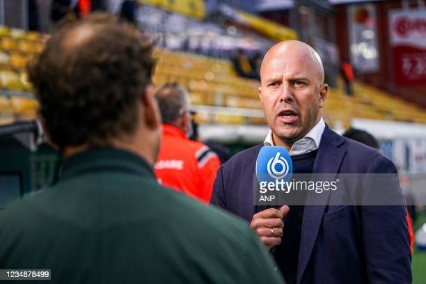 Feyenoord coach Arne Slot during the UEFA Conference League play-offs match between IF Elfsborg and Feyenoord at the Boras Arena on August 26, 2021...