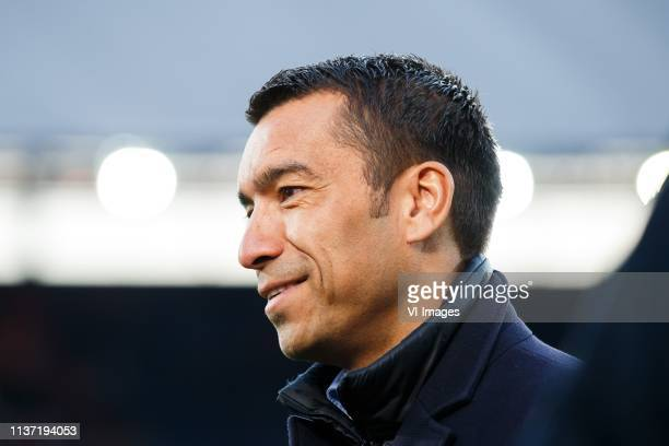 Feyenoord coach Giovanni van Bronckhorst during the Dutch Eredivisie match between Feyenoord Rotterdam and Heracles Almelo at the Kuip on April 13...
