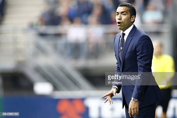 Feyenoord coach Giovanni van Bronckhorst during the Dutch Eredivisie match between Heracles Almelo and Feyenoord on august 21 2016 at the Polman...