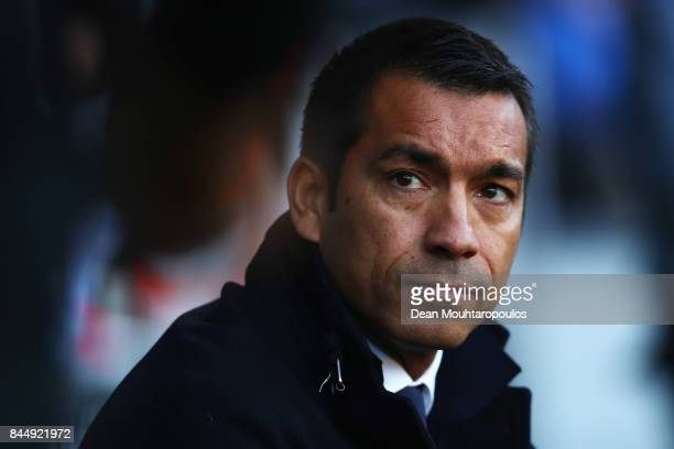 Feyenoord Head Coach / Manager Giovanni van Bronckhorst looks on during the Dutch Eredivisie match between Heracles Almelo and Feyenoord Rotterdam...