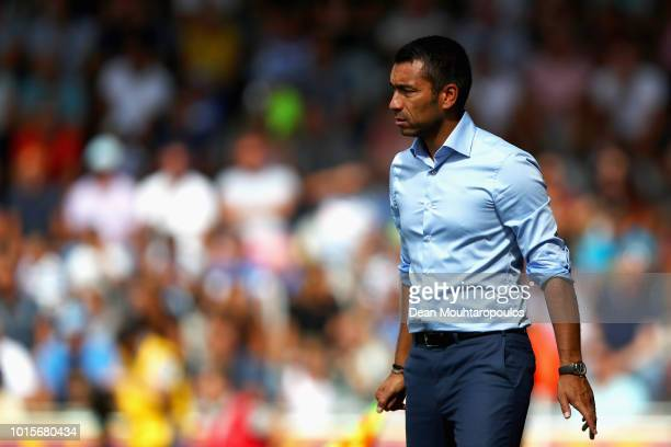 Feyenoord Manager / Head Coach Giovanni van Bronckhorst gives his players instructions during the Eredivisie match between De Graafschap and...