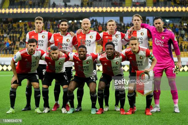Feyenoord team during the UEFA Conference League match between IF Elfsborg and Feyenoord at Boras Arena on August 26, 2021 in Boras, Sweden