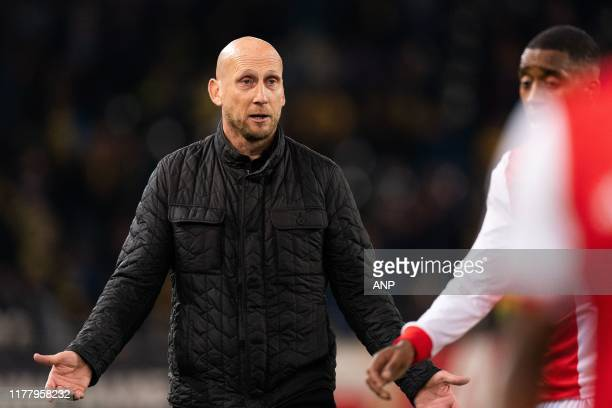 Feyenoord trainer / coach Jaap Stam during the UEFA Europa League group G match between BSC Young Boys and Feyenoord Rotterdam at Stade de Suisse on...