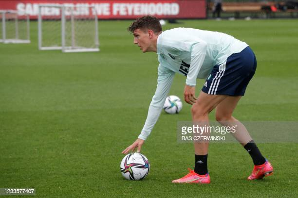 Feyenoord Zambian-Dutch midfielder Guus Til attends a training session at the Varkenoord training complex next to the De Kuip stadium on June 21 the...