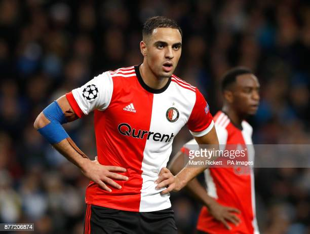 Feyenoord's Sofyan Amrabat during the UEFA Champions League Group F match at the Etihad Stadium Manchester PRESS ASSOCIATION Photo Picture date...