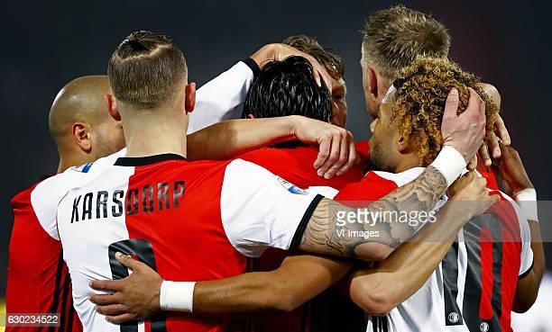 FeyenoordVitesse eredivisie 2016/2017 De verschillende kapseles en culturen van Feyenoord Vlnr Karim el AhmadiRick Karsdorp Steven Berghuis Dirk Kuyt...