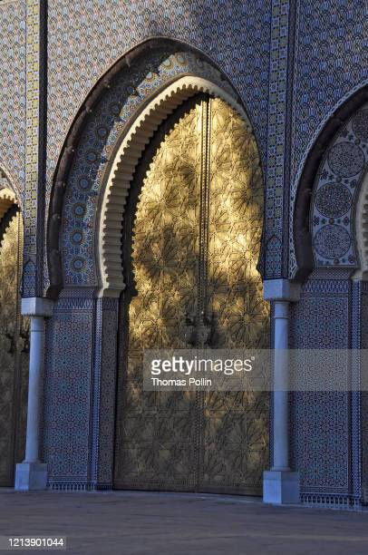 fez royal palace gate - palace stock pictures, royalty-free photos & images