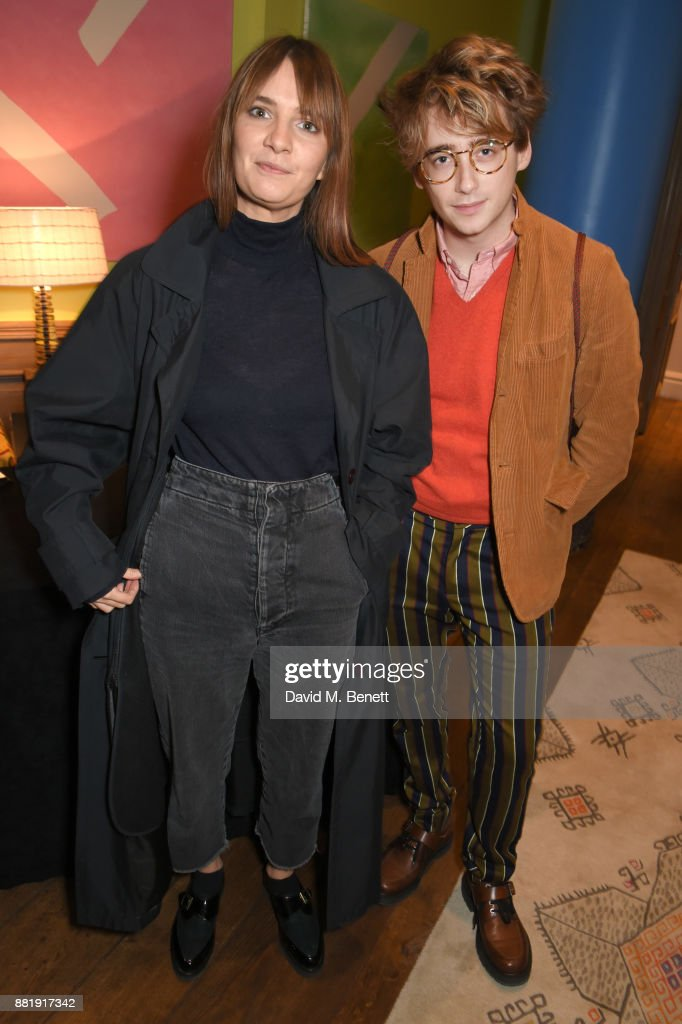 Ffee Greening (L) and Luke Edward Hall attend the LOVE, CECIL special preview screening with director Lisa Immordino Vreeland at Soho Hotel on November 29, 2017 in London, England.