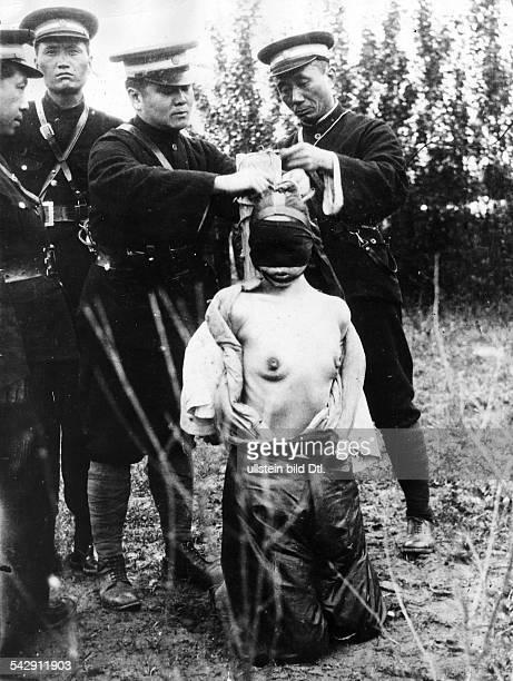 Öffentliche Hinrichtung in China durch die Garrotte Shanghai 1930