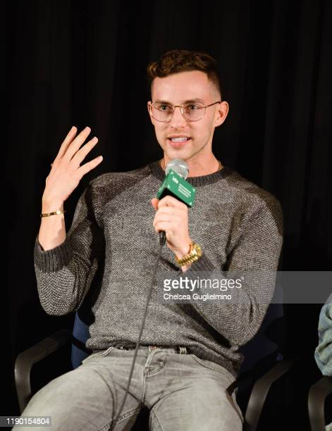 "Fgure skater Adam Rippon attends the Los Angeles special screening of ""Stonewall Outloud"" at The Landmark Westside Pavilion on November 25, 2019 in..."