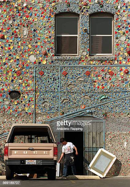 FHeard30308AR Self Help Graphics is a nonprofit art gallery/ workshop in East Los Angeles Exterior view of building shows mural made of ceramics and...