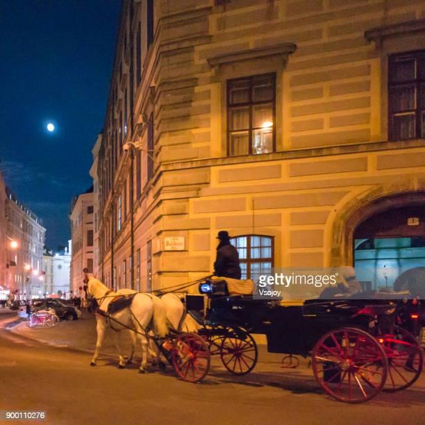 fiaker around vienna city centre, austria - vsojoy stock pictures, royalty-free photos & images