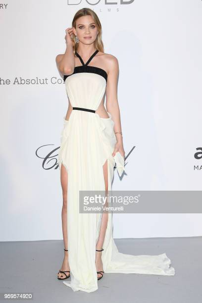Fiammetta Cicogna arrives at the amfAR Gala Cannes 2018 at Hotel du CapEdenRoc on May 17 2018 in Cap d'Antibes France