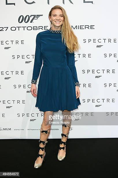 Fiammetta Cicogna attends a red carpet for 'Spectre' on October 27 2015 in Rome Italy