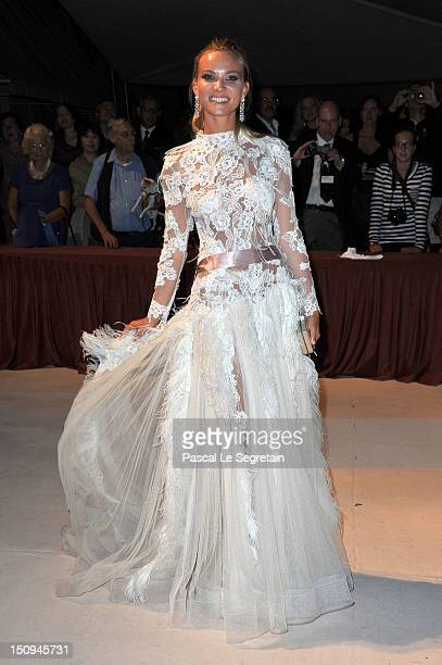 Fiammetta Cicogna attends the Opening Ceremony Dinner during the 69th Venice International Film Festival at Palazzo del Cinema on August 29 2012 in...