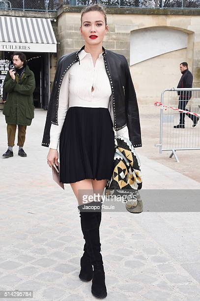 Fiammetta Cicogna is seen arriving at Valentino Fashion show during Paris Fashion Week Womenswear Fall Winter 2016/2017 on March 8 2016 in Paris...