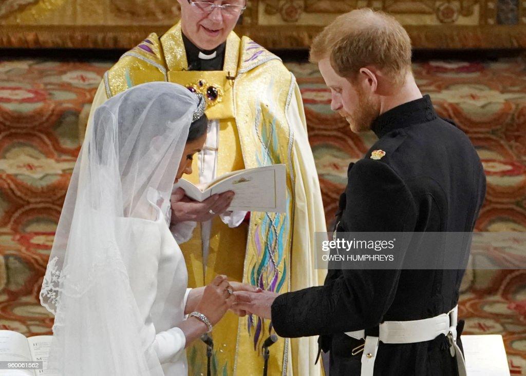 TOPSHOT-BRITAIN-US-ROYALS-WEDDING-CEREMONY : News Photo