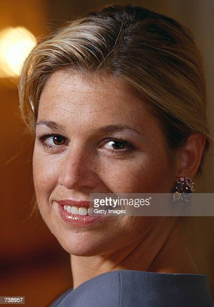 Fiancee of Dutch Crown Prince Willem Alexander Argentine Maxima Zorreguieta poses for an undated portrait The couple will marry February 2 2002 in...