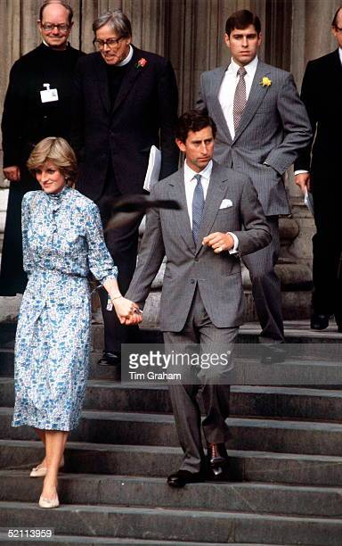 Fiancees Prince Charles And Lady Diana Spencer At St Paul's Cathedral For A Wedding Rehearsal During Their Engagement