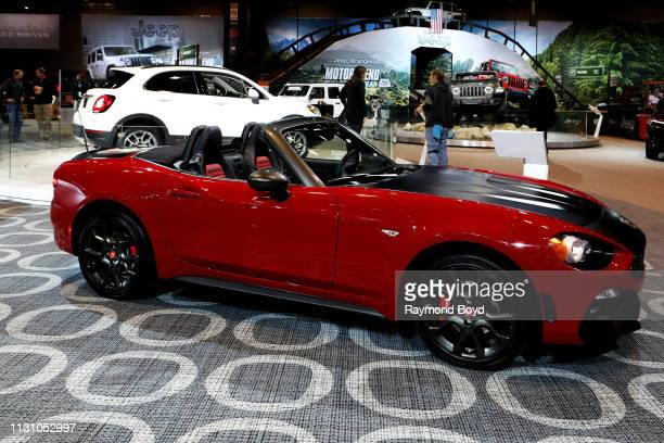Fiat 124 Spider Abarth is on display at the 111th Annual Chicago Auto Show at McCormick Place in Chicago, Illinois on February 8, 2019.