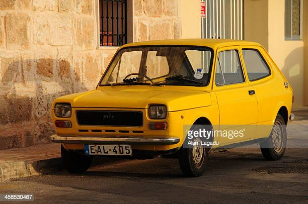 fiat 127, malta. - fiat stock photos and pictures