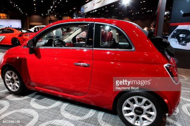 Fiat 500 Cabrio is on display at the 109th Annual Chicago Auto Show at McCormick Place in Chicago Illinois on February 9 2017