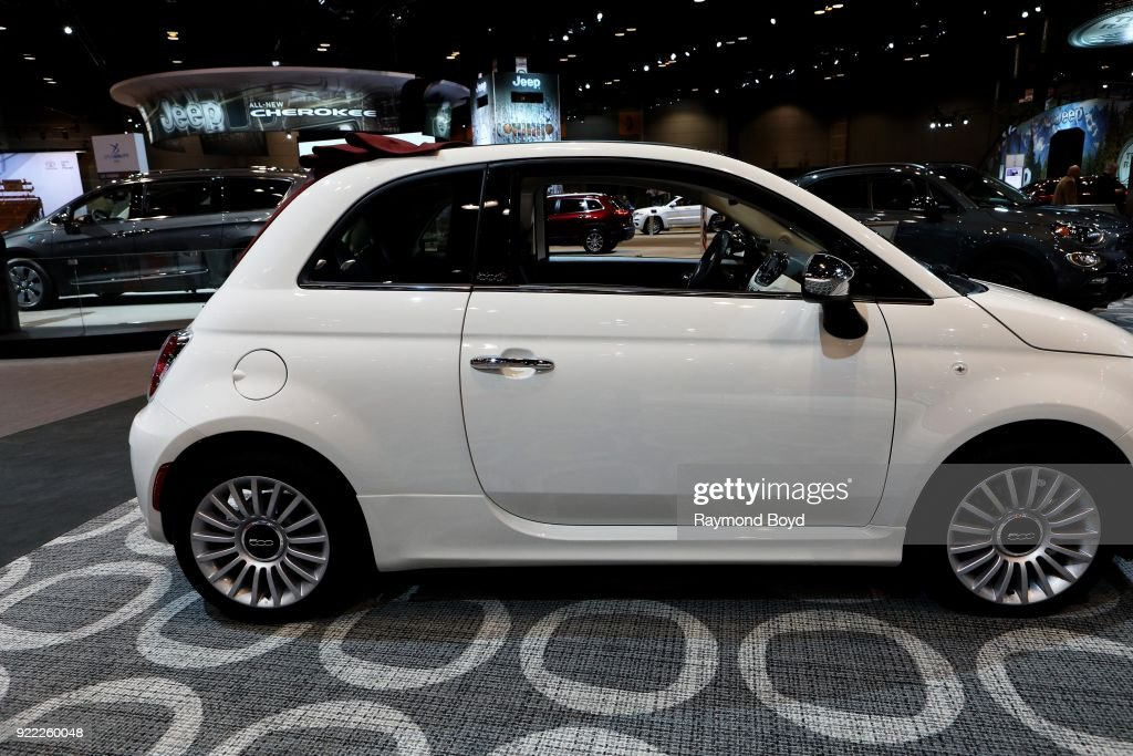 Fiat 500 Cabrio is on display at the 110th Annual Chicago Auto Show at McCormick Place in Chicago, Illinois on February 9, 2018.